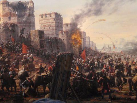コンスタンティノープル攻城戦の様子