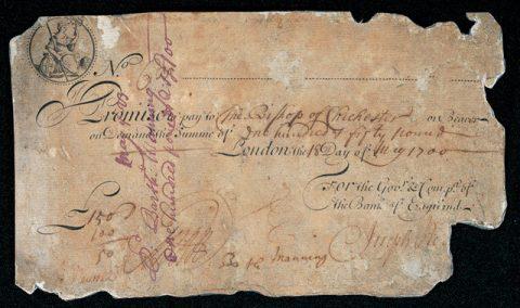 イングランド銀行券(1700)