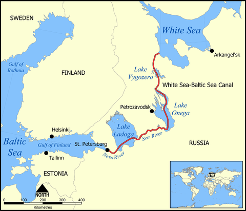 White_Sea_Canal_map